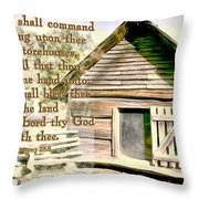 Deuteronomy 28 8 Throw Pillow