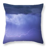 Dia Country Farm Field Lightning Striking 85 Throw Pillow