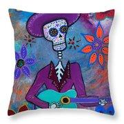 Dia De Los Muertos Mariachi Throw Pillow