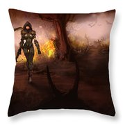 Diablo IIi Throw Pillow