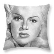 Diana Dors Throw Pillow