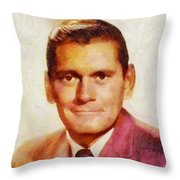 Dick York, Vintage Hollywood Actor Throw Pillow