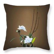 Digital Flower Arrangement Throw Pillow by GuoJun Pan