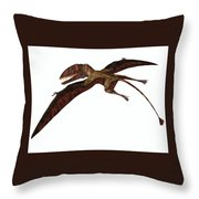 Dimorphodon On White Throw Pillow