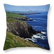 Dingle Coastline Near Fahan Ireland Throw Pillow