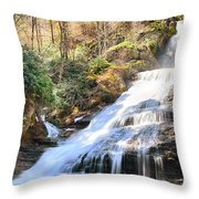 Dingmans Falls Throw Pillow