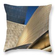Disney Hall Abstract 2 Throw Pillow