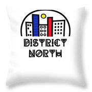 District North Throw Pillow