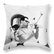 Dizzy Gillespie (1917-1993) Throw Pillow