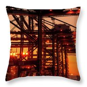 Docks Throw Pillow