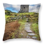 Dolbadarn Castle Snowdonia Throw Pillow