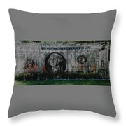 Dollar Bill Throw Pillow