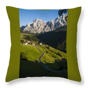Dolomiti Landscape Throw Pillow
