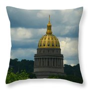 Dome Of Gold Throw Pillow