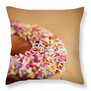 Donut And Sprinkles Throw Pillow
