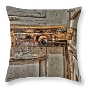Door Latch Throw Pillow
