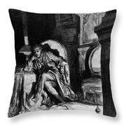 DorÉ: The Raven, 1882 Throw Pillow by Granger