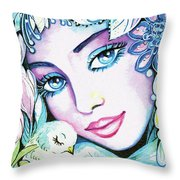 Dove Fairy Throw Pillow