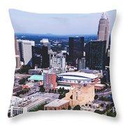 Downtown Charlotte Throw Pillow