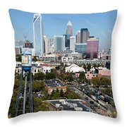 Downtown Charlotte North Carolina From The South End Throw Pillow