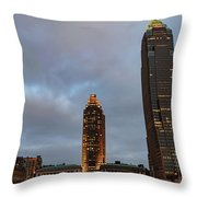 Downtown Cleveland At Dusk Throw Pillow
