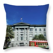 Downtown New Orleans Throw Pillow