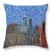 Downtown Raleigh - View From Chavis Park Throw Pillow