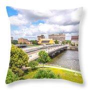 Downtown Waterloo Iowa  Throw Pillow