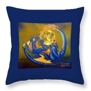 Dragon And Captured Fairy Throw Pillow