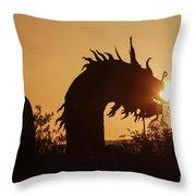 Dragon At Dawn Throw Pillow