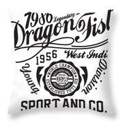 Dragon Fist 1986 Throw Pillow
