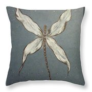 Dragonfly Throw Pillow by Ginny Youngblood