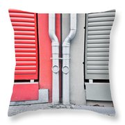 Drain Pipes Throw Pillow