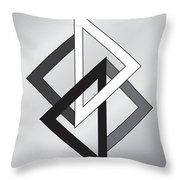 Drawn2shapes1bnw Throw Pillow