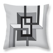 Drawn2shapes2bnw Throw Pillow