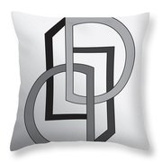 Drawn2shapes5 Throw Pillow