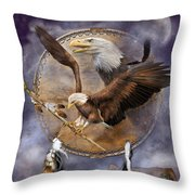Dream Catcher - Spirit Eagle 2 Throw Pillow