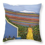 Dream Cycle Throw Pillow by Anne Klar