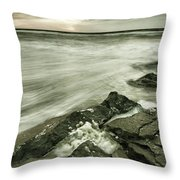 Dreamy Waves Throw Pillow