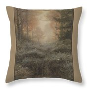 Drenched Furze Throw Pillow