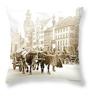 Dresden, Altmarkt Square, Germany, 1903 Throw Pillow
