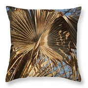 Dried Palm Fronds Throw Pillow