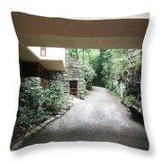 Driveway Fallingwater  Throw Pillow