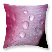 Droplets On Pink Throw Pillow