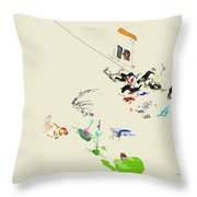 Drunk On Berries Throw Pillow