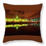 Dublin's Custom House In Green Throw Pillow