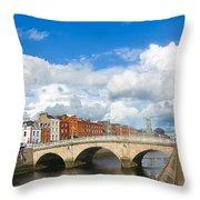 Dublin's Fairytales Around  River Liffey 2 Throw Pillow