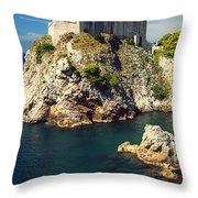Dubrovnik King's Landing Fortress Throw Pillow