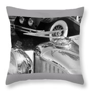 Duesenberg Hood Ornament Throw Pillow
