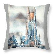 Duke University Chapel Throw Pillow